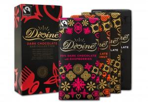 Divine Chocolate dark 100g collection