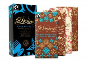 Divine Chocolate milk 100g collection