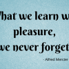 Poem about learning with pleasure playing PLYT